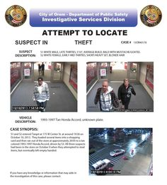 Please call (801) 229-7070 if you any information on the identity of these suspects!