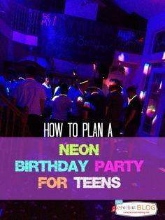 Neon Party for Teens | TodaysCreativeBlog.net