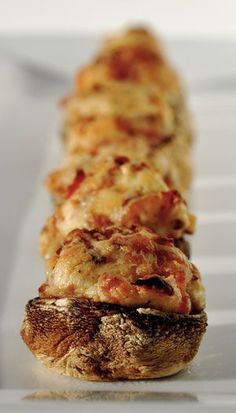 appetizer stuffed mushrooms. They are stuffed with cream cheese and bacon
