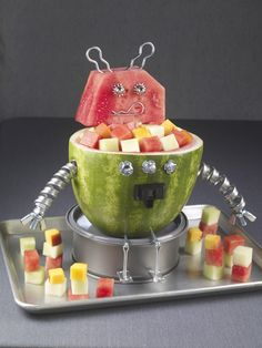 How to Carve a Watermelon Robot