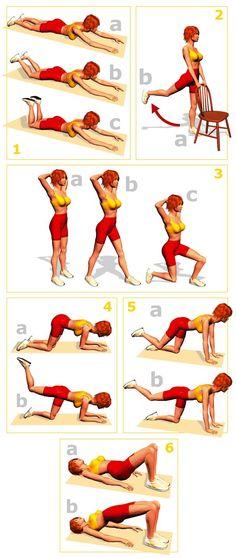 tabla de ejercicios para gluteos
