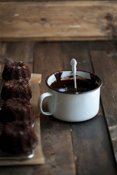 Mini Espresso Bundt Cakes with Dark Chocolate Ganache