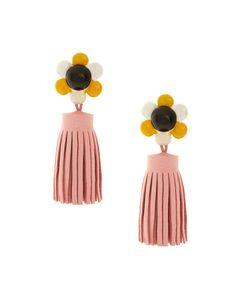 ASOS Flower & Tassel Drop Earrings