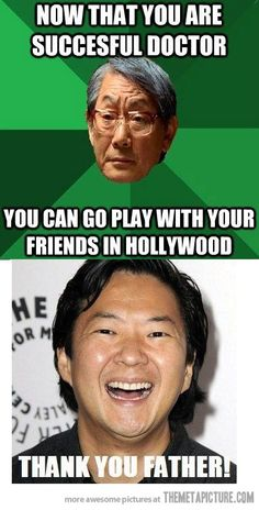 """You did it, son"". Love Ken Jeong!!"