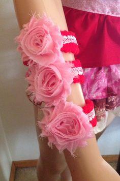 Crocheted Dog Collar Valentines Day Pink Shabby by RocknHotdog, $6.00