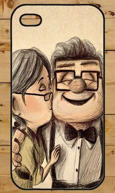 Up Disney Love Kiss Romance iPhone 4 / 4s / 5 Hard Case Cover Phone Cute Couple