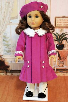 Corduroy Dress, Hat ,and Bloomers for Rebecca or Samantha