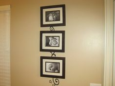 Cute idea for picture collage.  Use Cricut design behind pictures