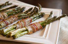 Garlic Bacon-Wrapped Asparagus