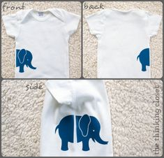Gender Neutral Onesies & Free Cut Files | The Thinking Closet flock olifant elephant