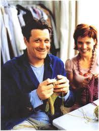 Isaac Mizrahi knitting!
