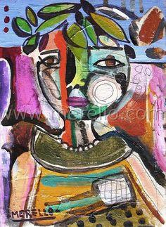 merello paintings   ... PAINTINGS. Current art from 21st century. merello.-EL NIÑO DE ROMA