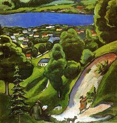 August Macke - 1910 Tegernsee