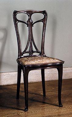 Art Nouveau chair.
