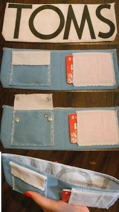 wallet made from toms flag. seriously doing this when i get to my sewing machine.