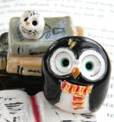 Harry Potter & Hedwig Clay Owls
