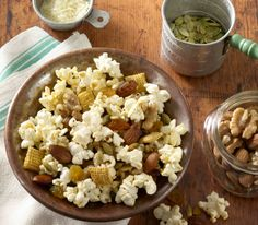 ZESTY GARLIC & BASIL TRAIL MIX by JOLLY TIME Pop Corn  #popcorn www.jollytime.com