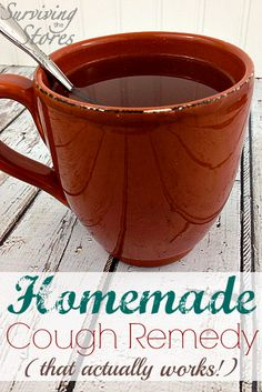 This homemade cough remedy recipe works every time!! #DIY #remedy #illness #cough