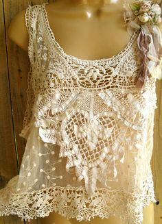 beeootiful lace tops, style, antique lace, vintage lace, outfit, white lace, boho, summer clothes, shirt
