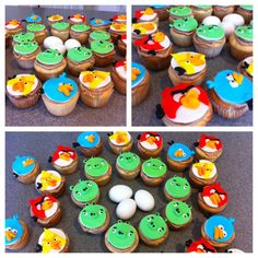 Angry Bird Cupcakes made for my son's birthday!