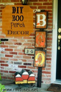 DIY halloween front porch decorations