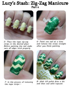Spring Zig-Zag manicure with Tutorial/How to!