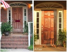 gel stain, front doors