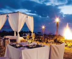 Shanti Maurice - A Nira Resort - Divine #Beach Dinner at Shanti Maurice, #Mauritius #resort