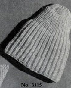 Knitting Pattern For Pull On Hat : Free Knit Patterns on Pinterest Sweater Patterns, Cardigan Pattern and Vint...