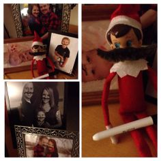 300+ Elf on the Shelf Photos  Buddy thinks everyone should have a 'stache!