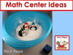 Math center ideas and activities for preschool, pre-k, or kindergarten classroom.