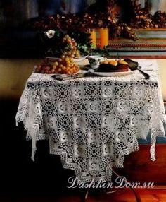 !!! crochet kitchen, crochet tablecloth