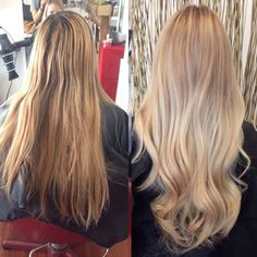 Hair and Make-up Artist Azelle Santa Ana (aka @xazellex) shared this beautiful beige summer blonde hair color before and after with MODERN by using our #hairdressermagic hashtag to show off her work. Learn the formula inside.
