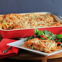 Baked Cheesy Spaghetti by Noshing With The Nolands