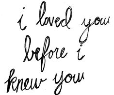 i loved you..... ♥