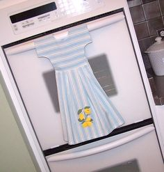 kitchen towel dress!!