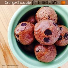 orange dark choc. chip Halloween bites with @EatNuttZo