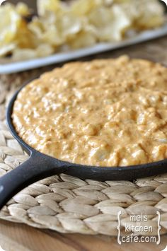 Hot Chorizo n Cheese Dip~doesn't necessarily look all that appetizing but it sounds delish; I'll be trying it!!