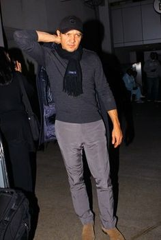 Actor and star of 'The Avengers' Jeremy Renner seen arriving to LAX Los Angeles Airport after flying from New York - wahhhhhh he's no longer on my coast anymore :*(