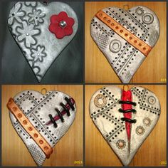 Salt dough hearts i made for sale please feel free to visit and share