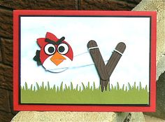 Stampin' Up!  Punch Art Angry Birds  Kerry Bunting