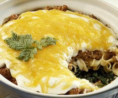 Eight-Layer Casserole Recipe...with ground beef !