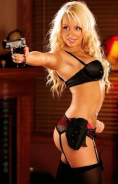 Chick with Gun