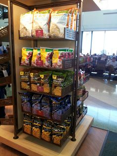 "Our Gluten-free snacks seen here are ""Top Flight"" at airports including here at Tampa's Airport!"