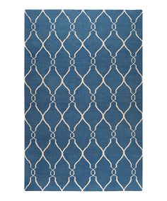 Take a look at this Blue & Ivory Fallon Wool Rug on zulily today!