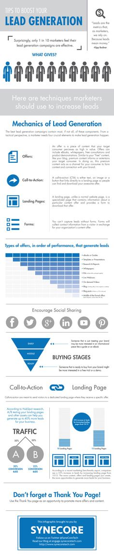Tips to Boost Your Lead Generation [INFOGRAPHIC]