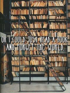 I'd like to read for the rest of my life and avoid reality...