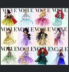 disney vogu, disney craze, art, disney diari, princess vogu, vogue magazine, vogu disney, vogue covers, all disney princesses