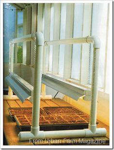Make your own grow light stand.  Start seeds indoors early!