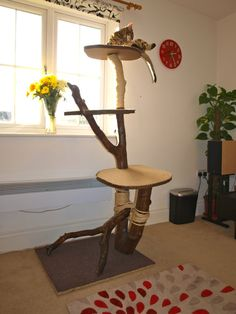 Natural Handmade Cat Tree by KoogaTree on Etsy, £249.99